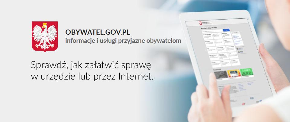 OBYWATEL.GOV.PL Informacje i usługi przyjazne obywatelom
